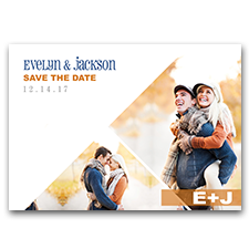 Modern Side Photos Unique Navy & Peach 5x7 Wedding Save The Date Cards