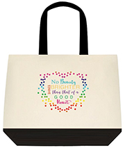 No Beauty Shines Brighter Than That Of A Good Heart Custom Large Shoulder Canvas Bag Bag