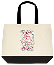 Smile Because Life Is a Beautiful Thing And There Is So Much To Smile About Large Shoulder Canvas Tote Bag