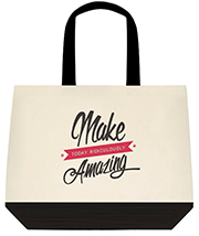 Make Today Ridiculously Amazing Large Shoulder Canvas Tote Bag