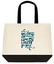 You Are My God Earnestly I Seek You Teal Large Shoulder Canvas Tote Bag