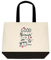 Good Things Are Going To Happen Large Shoulder Canvas Tote Bag