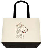 A Seed Hidden In The Heart Of An Apple Is An Orchard Invisible Large Shoulder Canvas Tote Bag