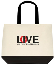 Live/Love Like There's No Tomorrow Large Shoulder Canvas Tote Bag
