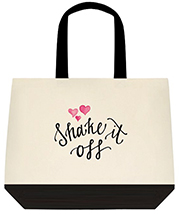 Shake It Off Adorable Hearts Large Shoulder Canvas Tote Bag