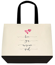 Love You Awesome Nerd Pitch Perfect Inspired Girly Cute Large Shoulder Canvas Tote Bag